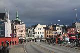 Bergen_153_06262019 - Looking back towards the Torget as we were walking towards Bryggeloftet by Bryggen in Bergen