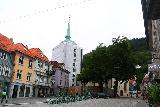 Bergen_320_06262019 - Looking back at some quiet street fronting the Korskirken, I believe in Bergen