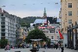 Bergen_334_06262019 - Almost twilight as we were walking towards the Bergens Tidende buildings near Ole Bulls Plass