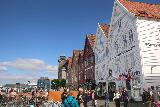 Bergen_378_06272019 - Looking back at the western side of the Bryggen while on the Bryggen Museum Tour