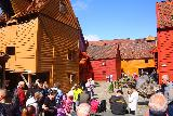 Bergen_406_06272019 - Lots of people touring around the Bryggen area while we were on the Bryggen Museum Tour