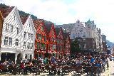 Bergen_475_06272019 - Another look across the old school buildings comprising the historical part of the Bryggen in Bergen