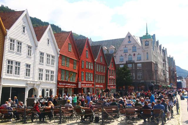 Bergen_475_06272019 - This was the famous Bryggen in Bergen, which as the former center of the Hanseatic League was always busy due to its historic charm filled with narrow alleyways, crooked wooden structures, and relics that were centuries old