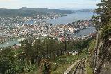 Bergen_539_06272019 - Another look down over the tracks of Floibanen towards the Bergen waterfronts