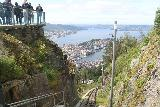 Bergen_541_06272019 - Context of the lookout at Mt Floyen with the tracks of the Floibanen below it