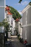Bergen_673_06272019 - Another one of the attractive alleyways seen en route to the Bergen sentrum from the Mt Floyen descent