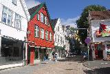 Bergen_682_06272019 - Walking one of the side streets at the Bergen sentrum as we pursued the Three Crowns hot dog joint in Bergen