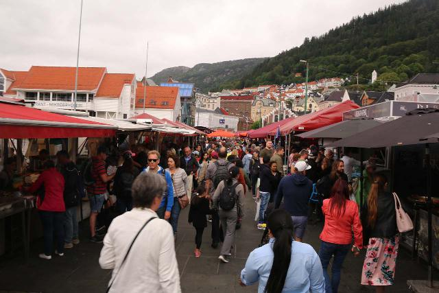 Bergen_830_06292019 - As part of my day tour into Modalen, I visited Dyrvedalen from Bergen. Shown here is the beloved fisketorget (Fish Market or Square), which was always bustling with activity