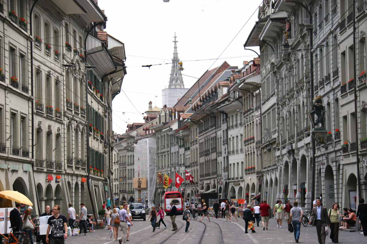 When we needed a break from waterfalling, our decision to base in Interlaken allowed us to take advantage of their train system to visit a charming city like Bern, the capital of Switzerland