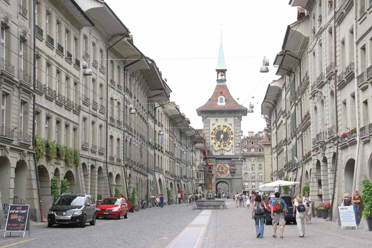 In addition to Reichenbach Falls, Interlaken also connected us to the Swiss capital of Bern, where some of the giant clocks (shown here) were said to have inspired Einstein's theory of relativity