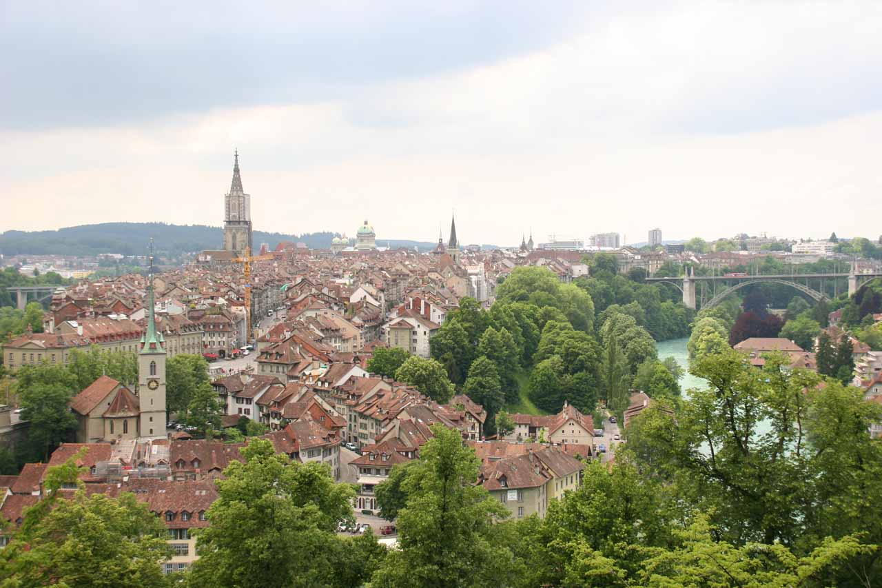 Panoramic view of Bern from the Rosengarten