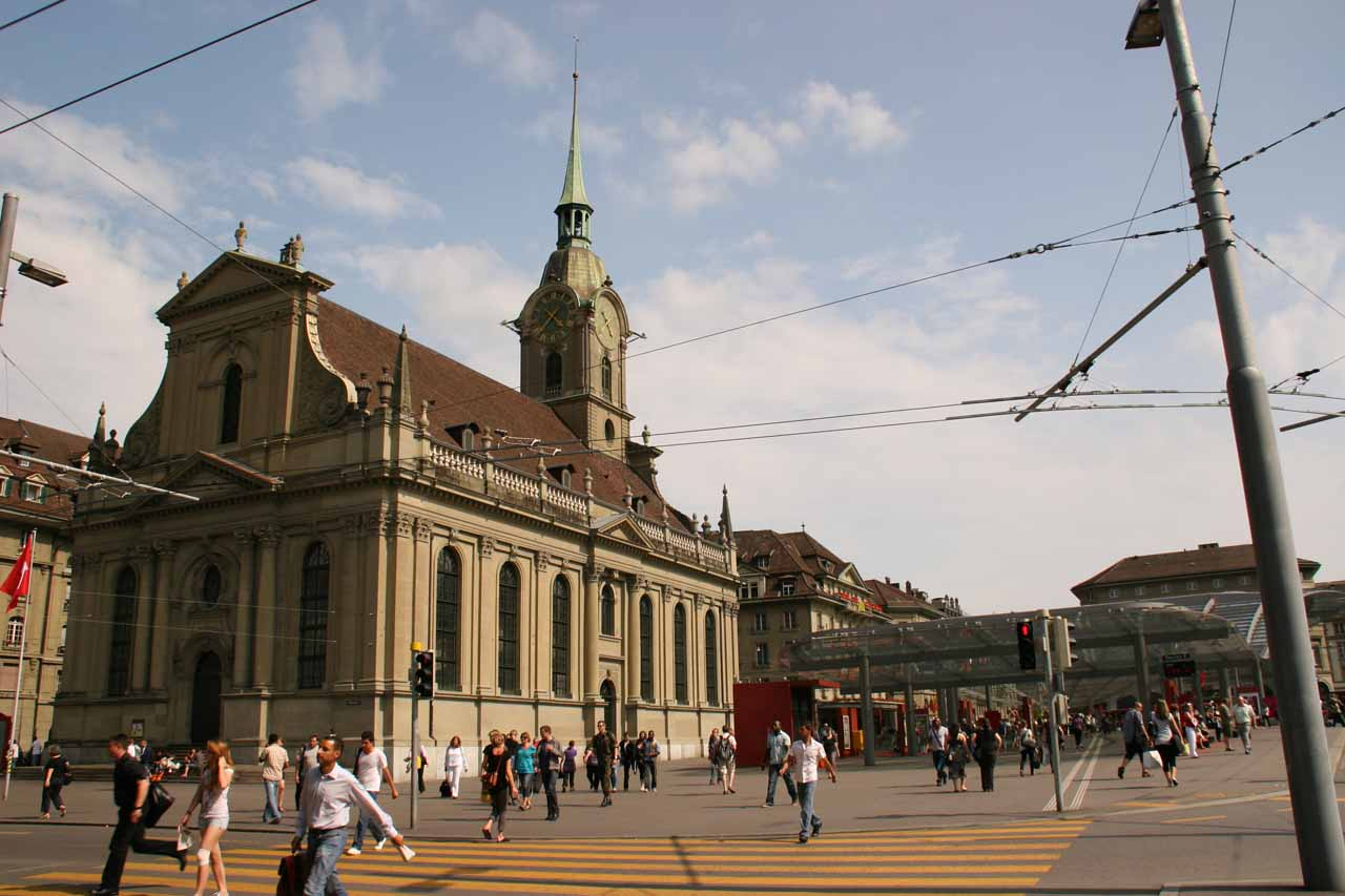 Back at the Central Train Station at Bern