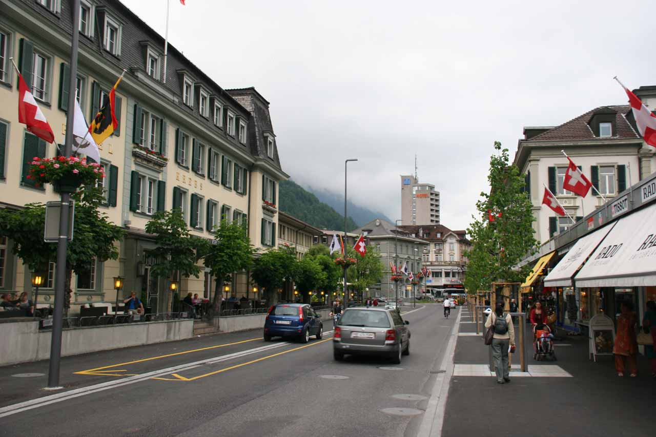 Interlaken under gloomy overcast conditions