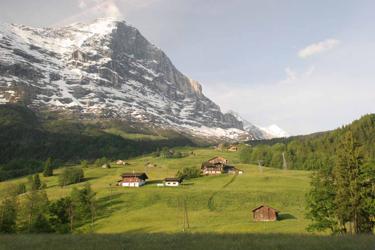 Alpine scenery on the way to Grindelwald