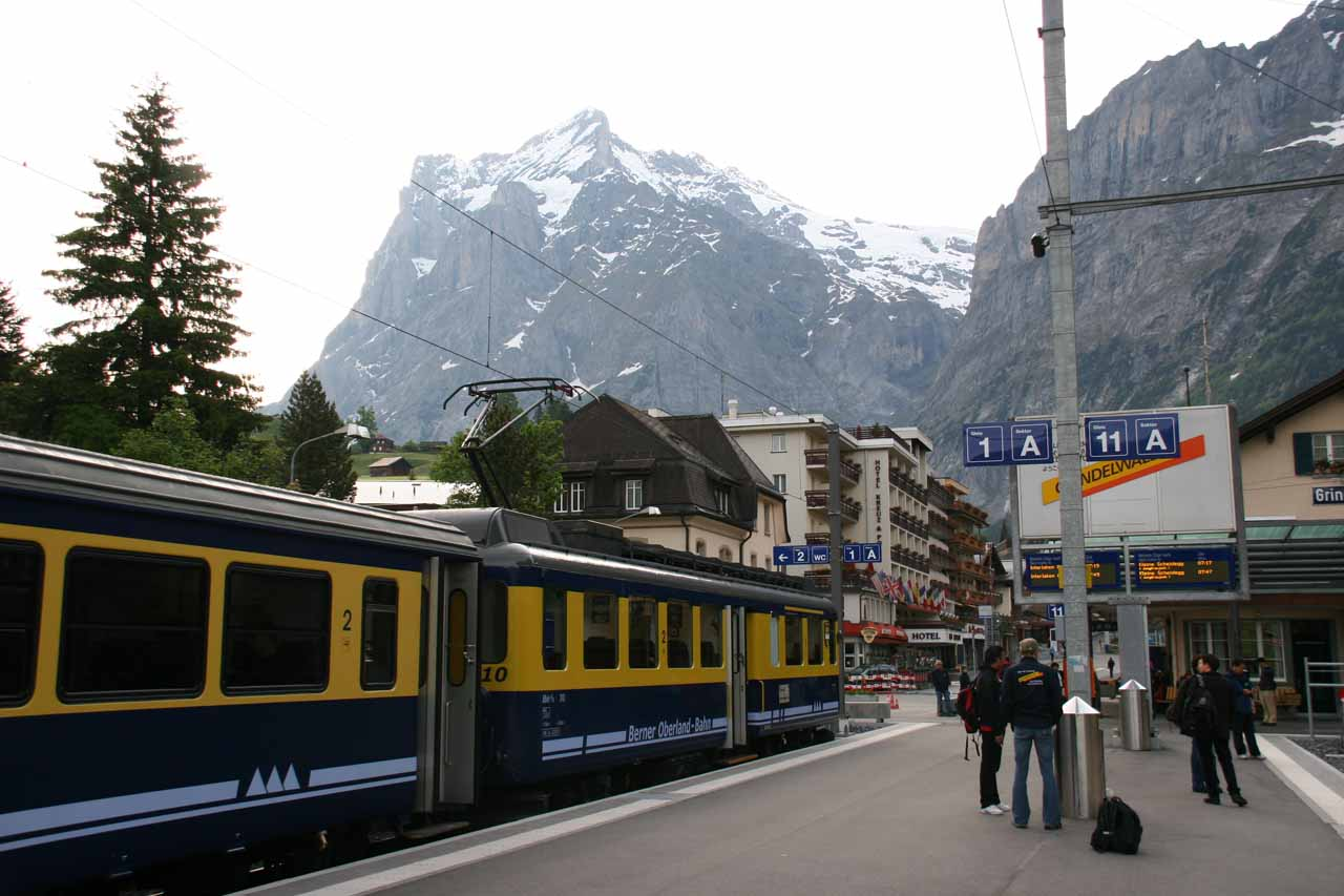 Julie and I were based in Interlaken, which was well connected with many train lines leading us deeper into the scenic Swiss Alps including Reichenbach Falls