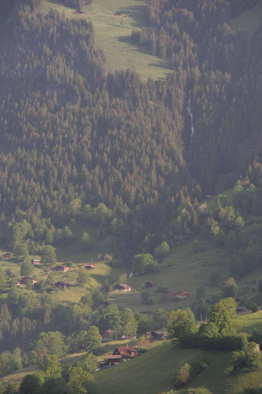 Some waterfall seen on the way to Kleine Scheidegg