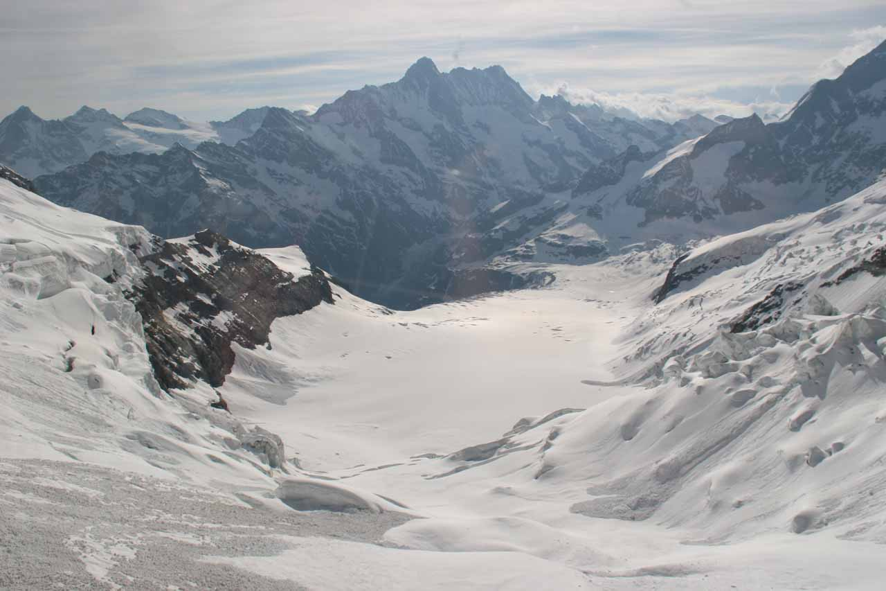 The glacier views at Eismeer