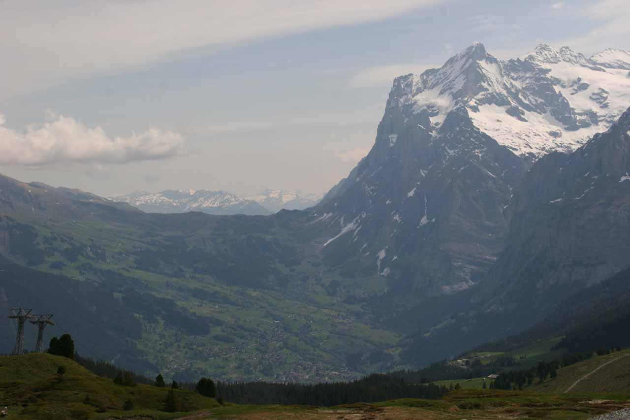 Looking towards Grindelwald from the Kleine Scheidegg Station
