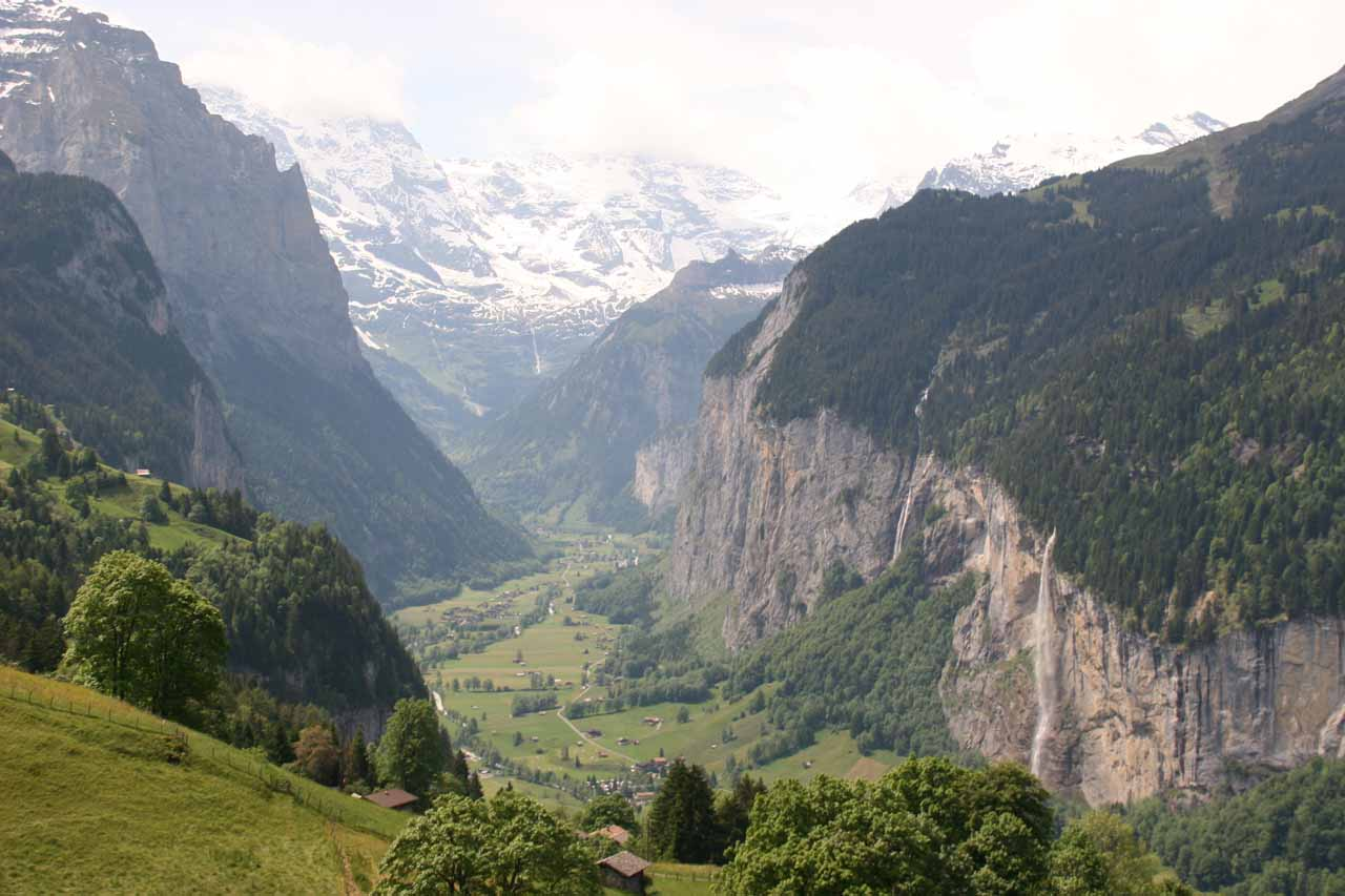 Staubbach Falls and Aegertenbach Falls from Wengen