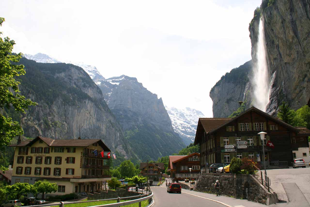 Julie and I firmly believe that waterfalls are located in some of the most beautiful spots on earth, and this photo of Staubbach Falls in Lauterbrunnen, Switzerland confirms that claim!