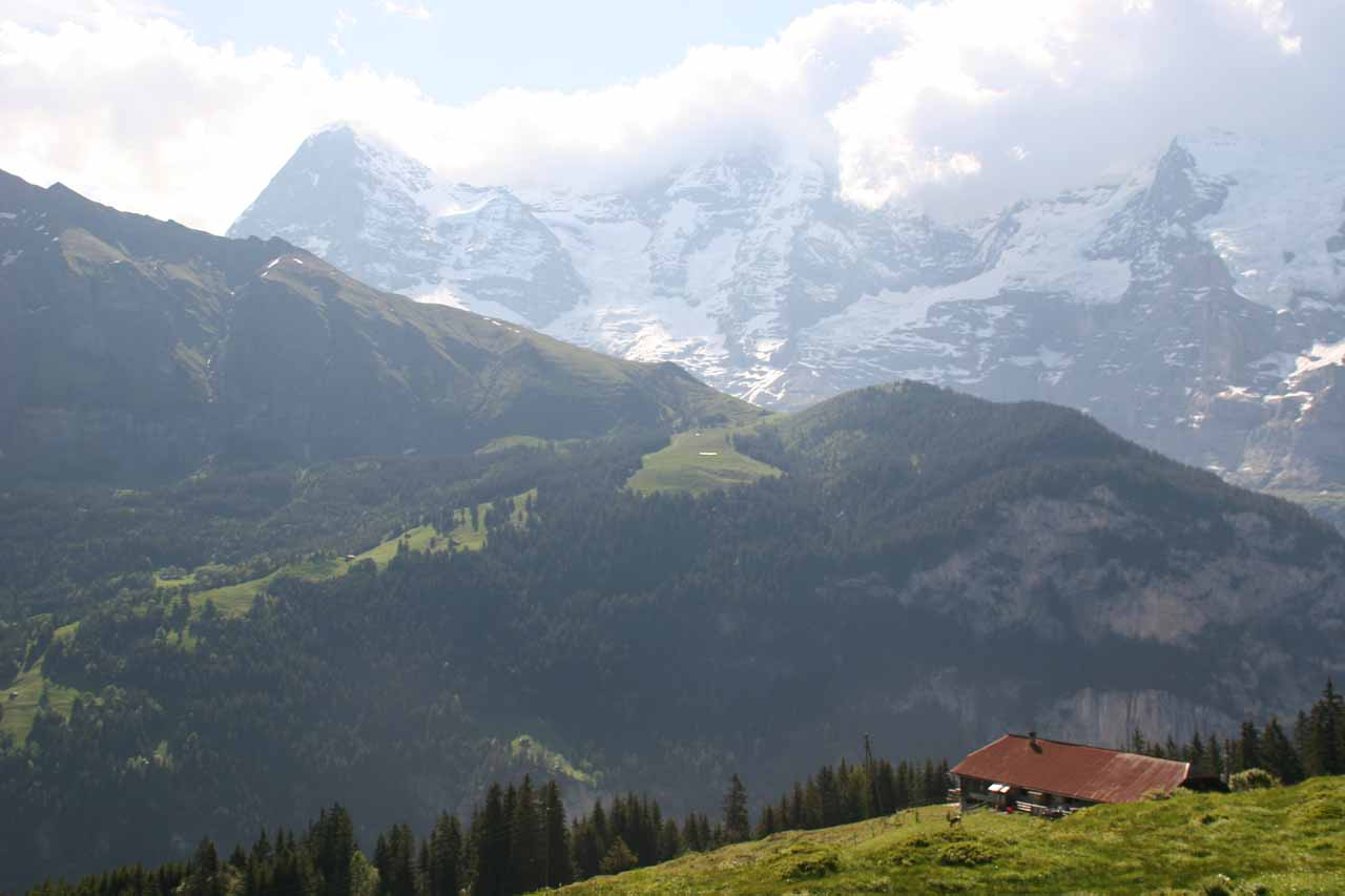 Gorgeous views of the Alps en route to Murren