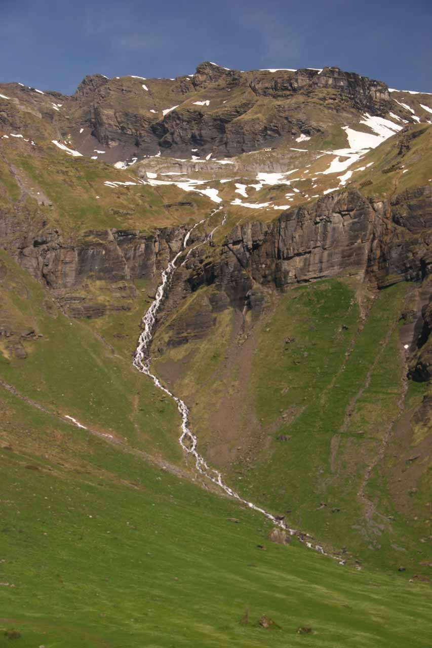 A cascade seen from the cable car en route to Schilthorn via Birg