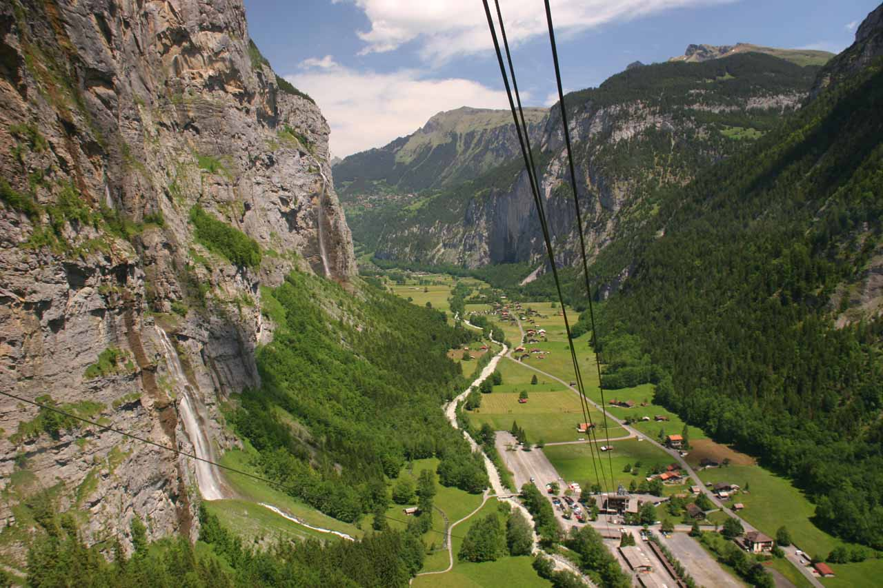 View of the falls from the cable car