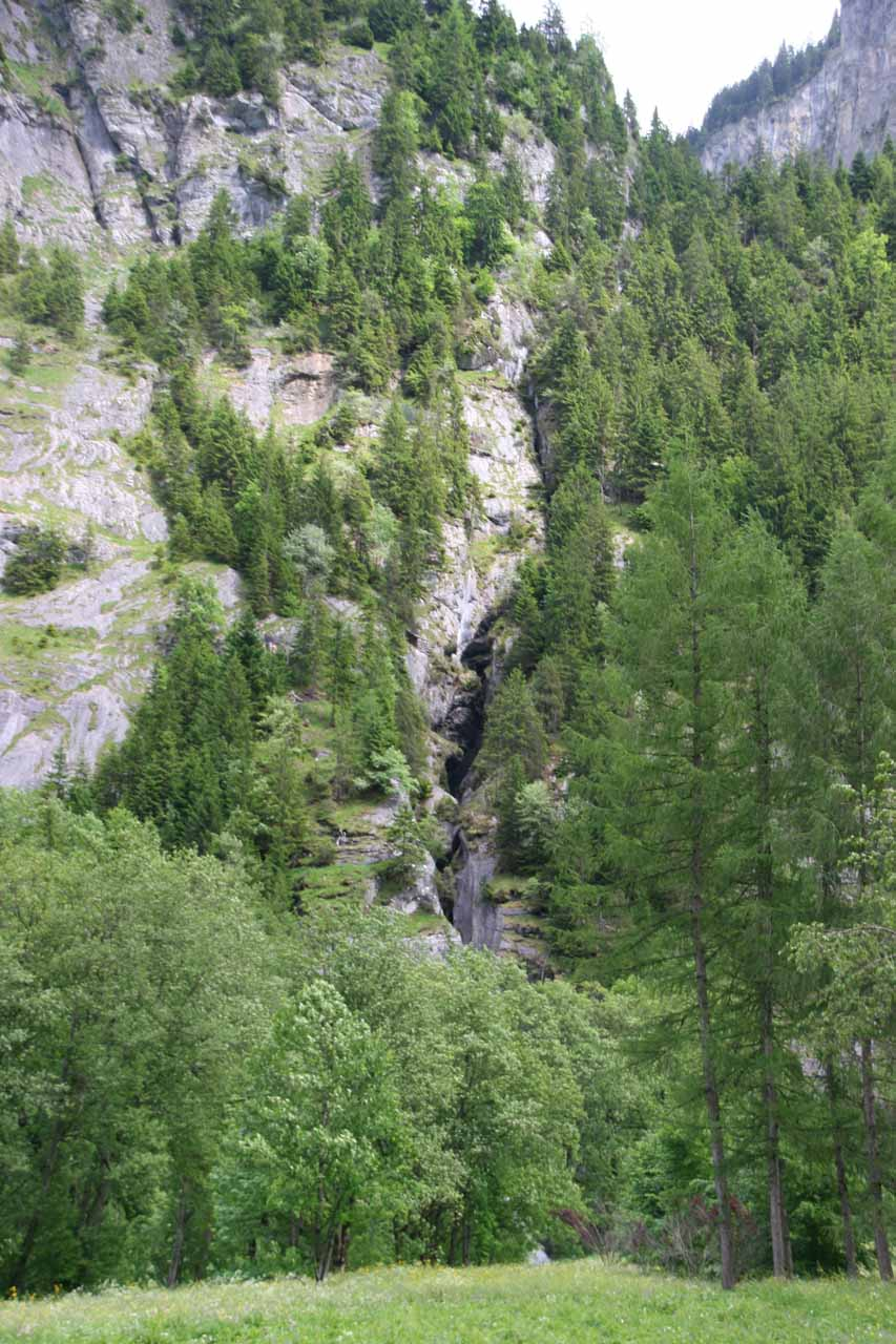 When Julie and I walked towards Stechelberg, this is all of the Trummelbach Falls that you're gonna see - nada!