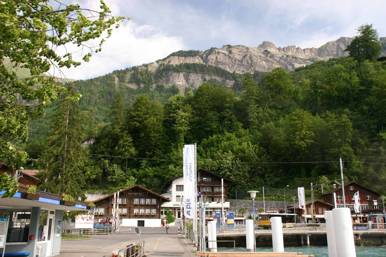 The dock at Lake Brienz