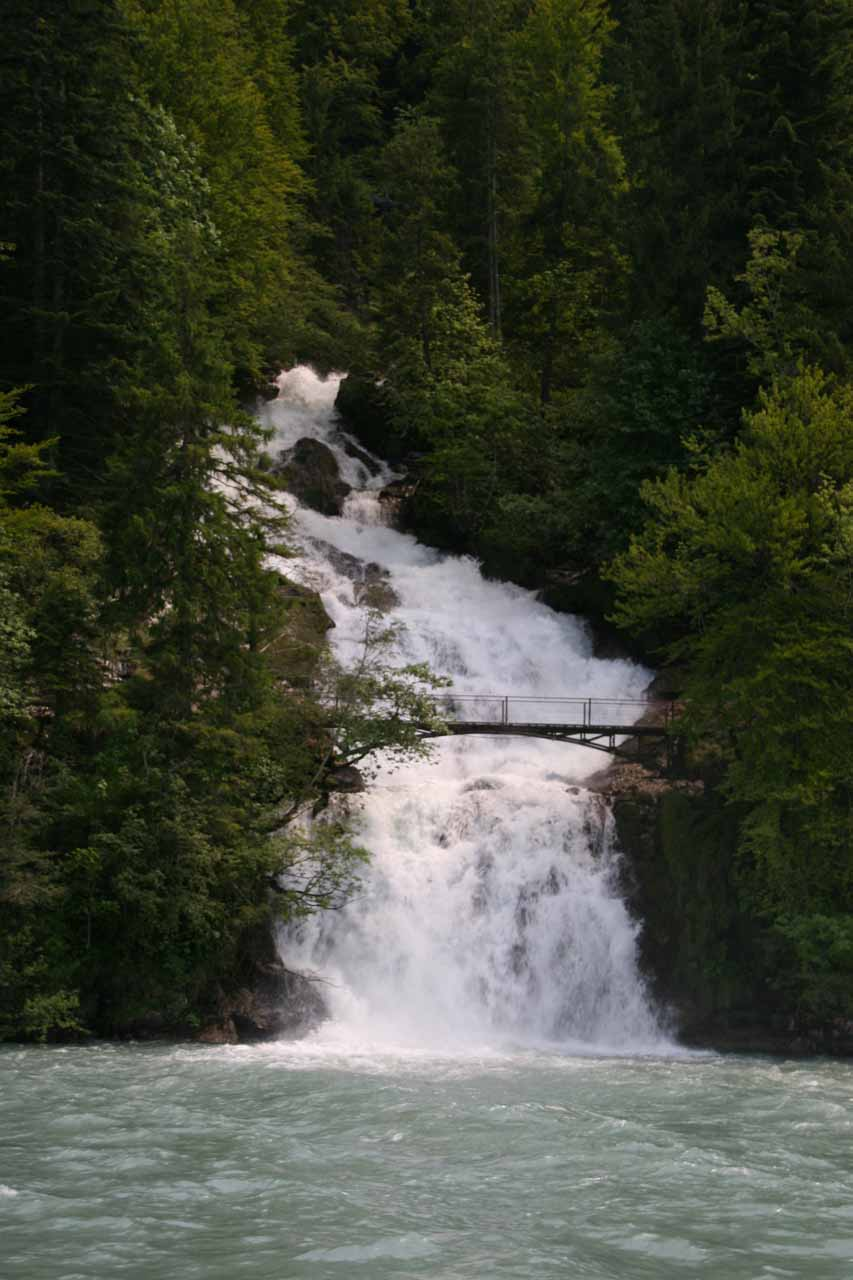The lowest tier of Giessbach Falls