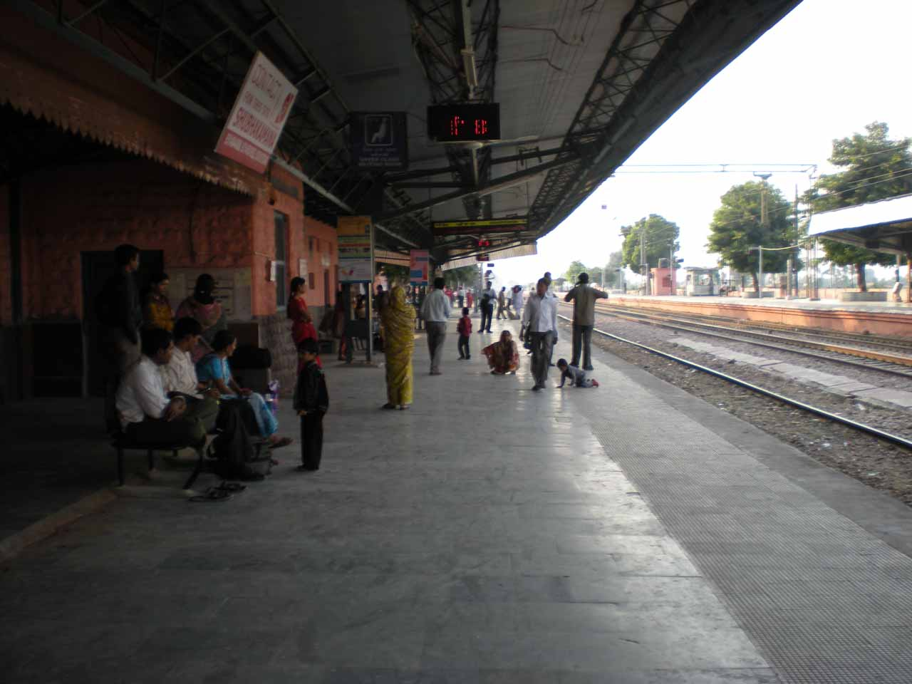 At the train station awaiting our train ride to Rantambhore
