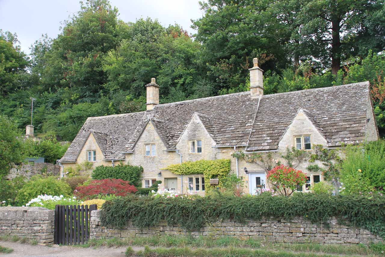 Looking at one of the charming homes of the Cotswolds