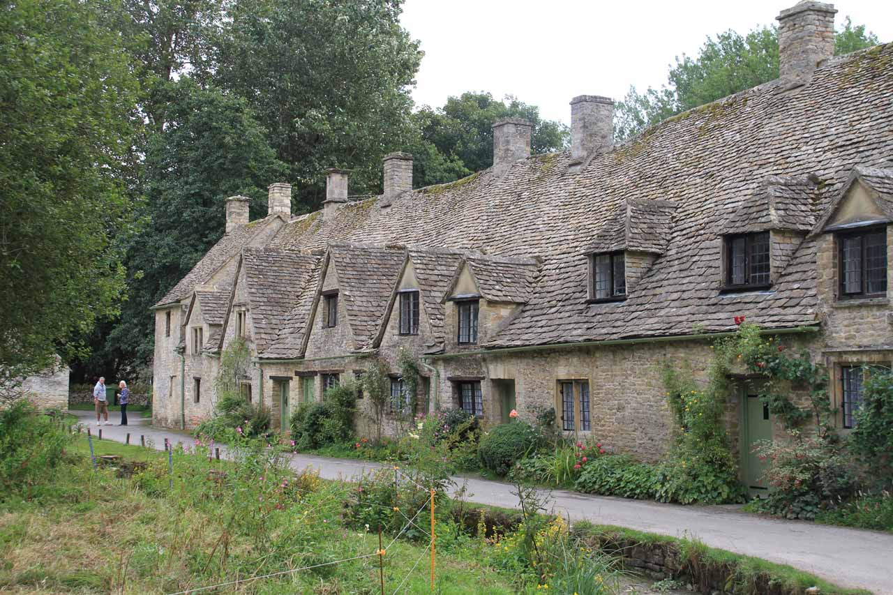 Looking back at Arlington Row in the Cotswolds