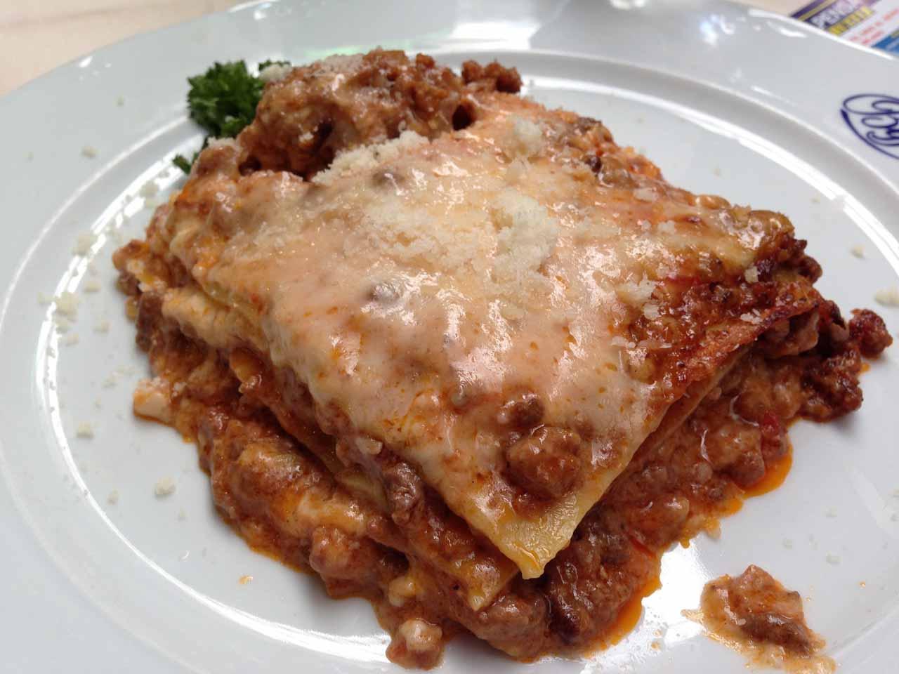 Julie's lasagna from Biffi's