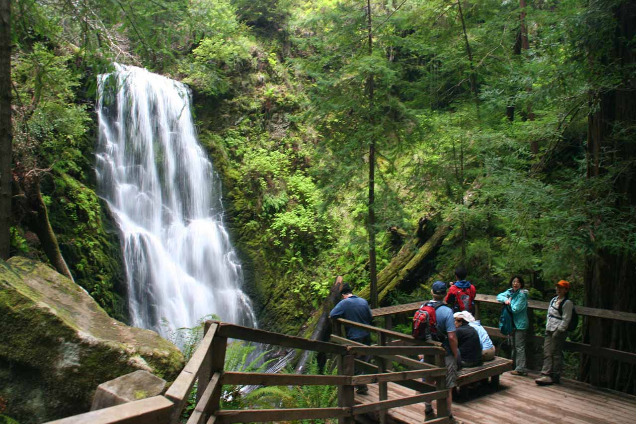 Berry Creek Falls and the lookout platform
