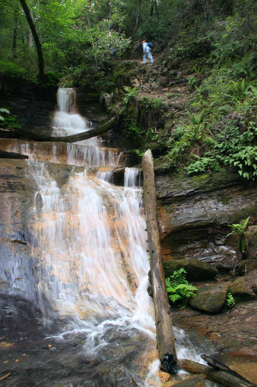 Frontal view of the Golden Cascade