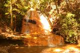 Big_Basin_Loop_228_04232019 - Direct look at the Golden Falls looking somewhat golden in the shadows of the daytime sun