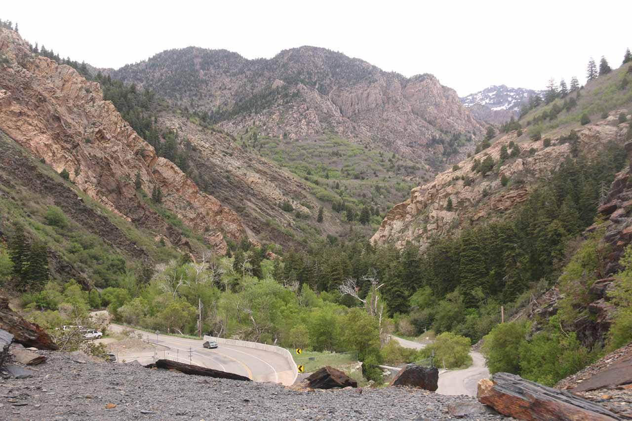 Sandy, UT was only a few minutes drive from Big Cottonwood Canyon, which featured some dramatic cliffs and mountains as the Big Cottonwood Canyon Road snaked its way through