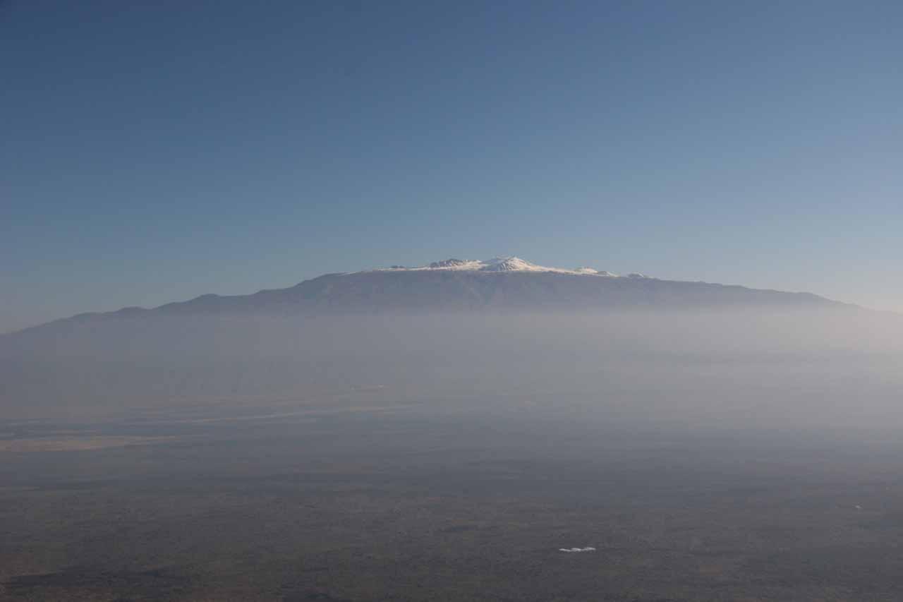 Mauna Kea over the hazy vog