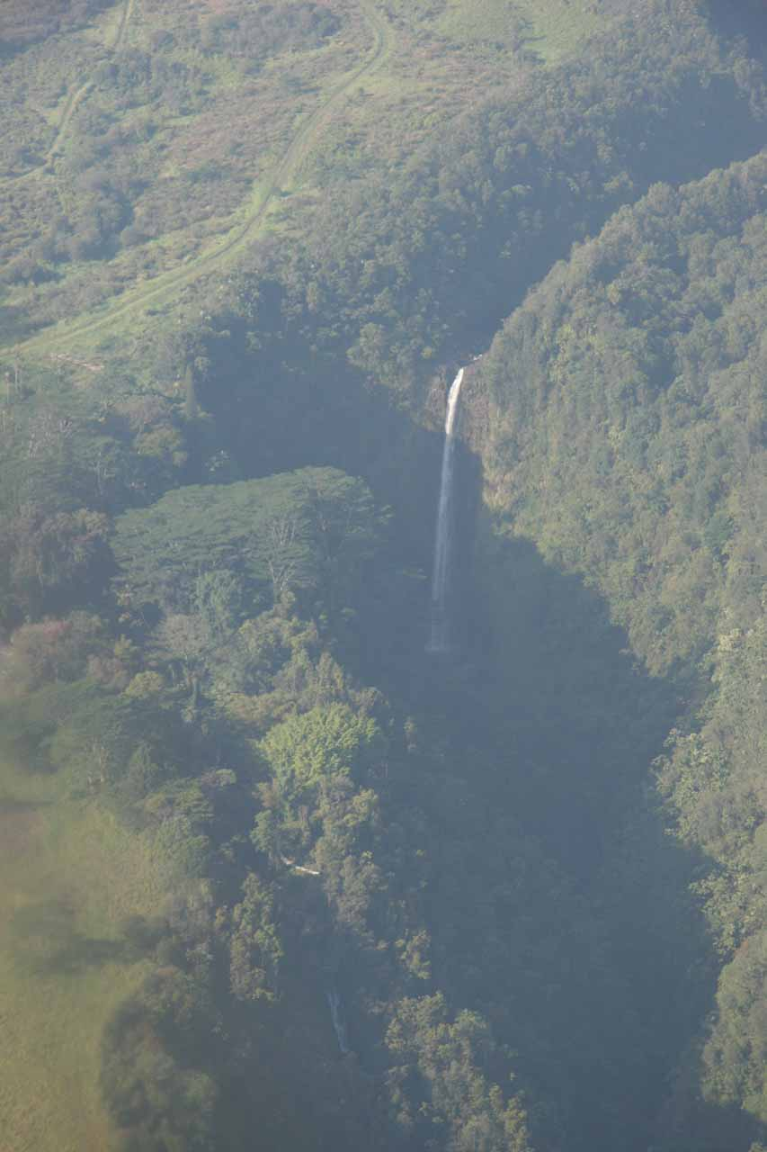 Akaka Falls seen from the air