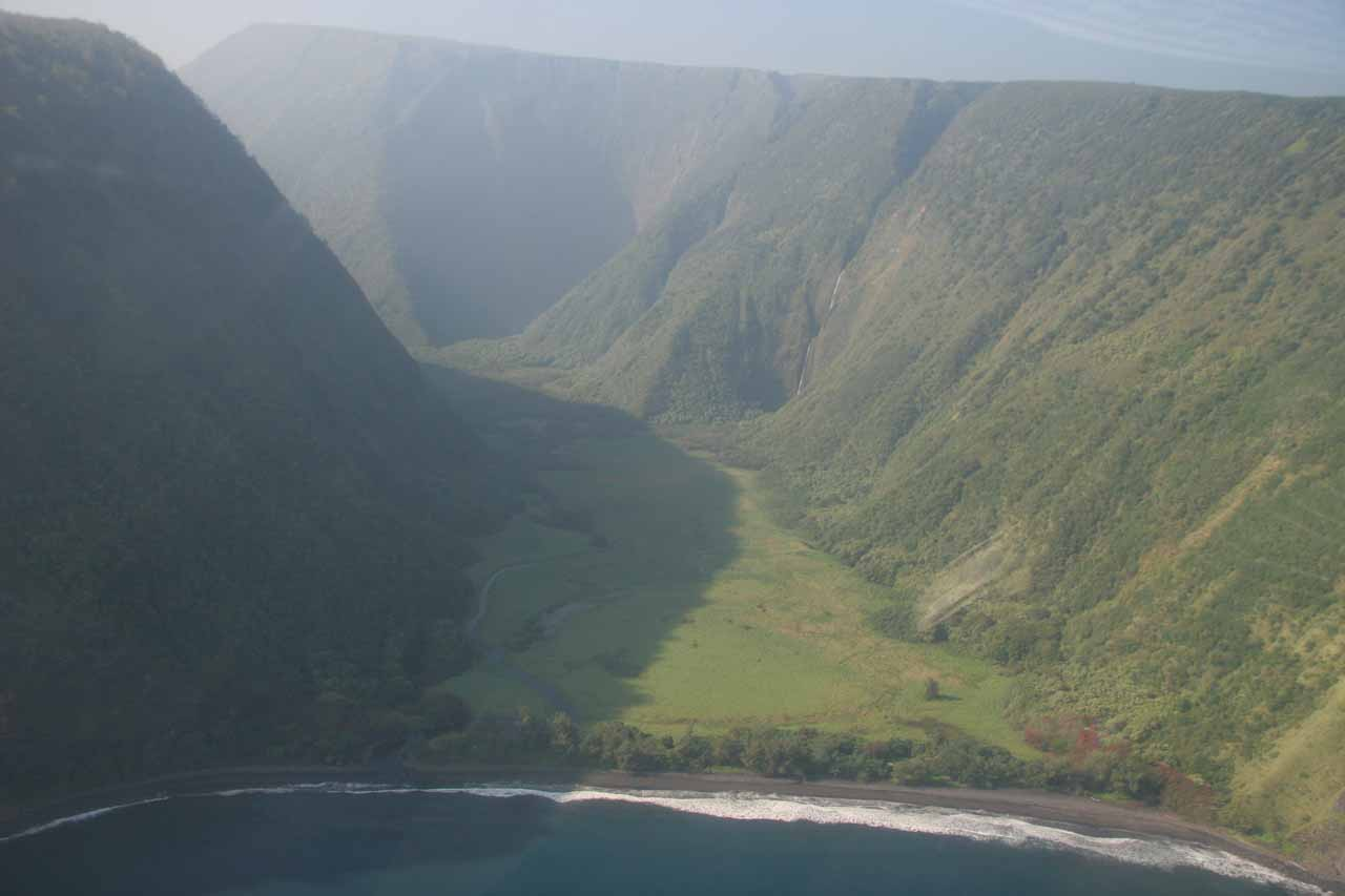 Entering Waimanu Valley - one of seven valleys of the Kohala Mountains.  Yes, there are waterfalls in there.