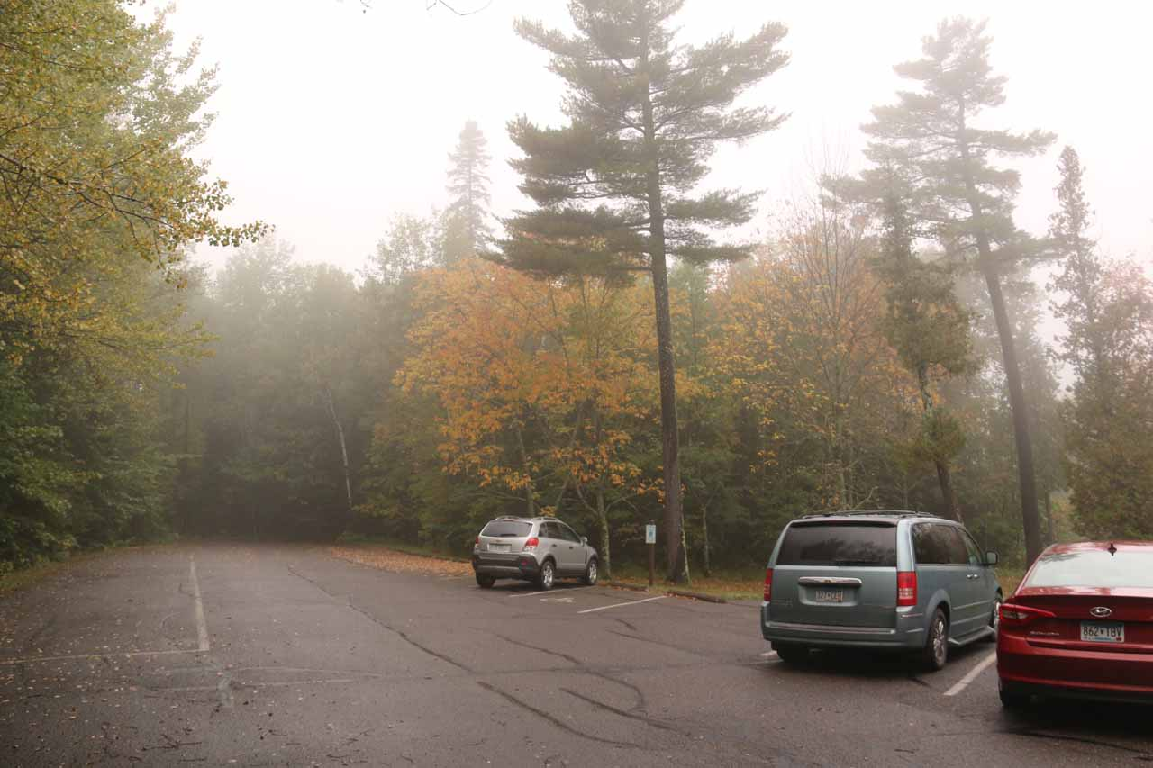 This was the car park closest to Big Manitou Falls