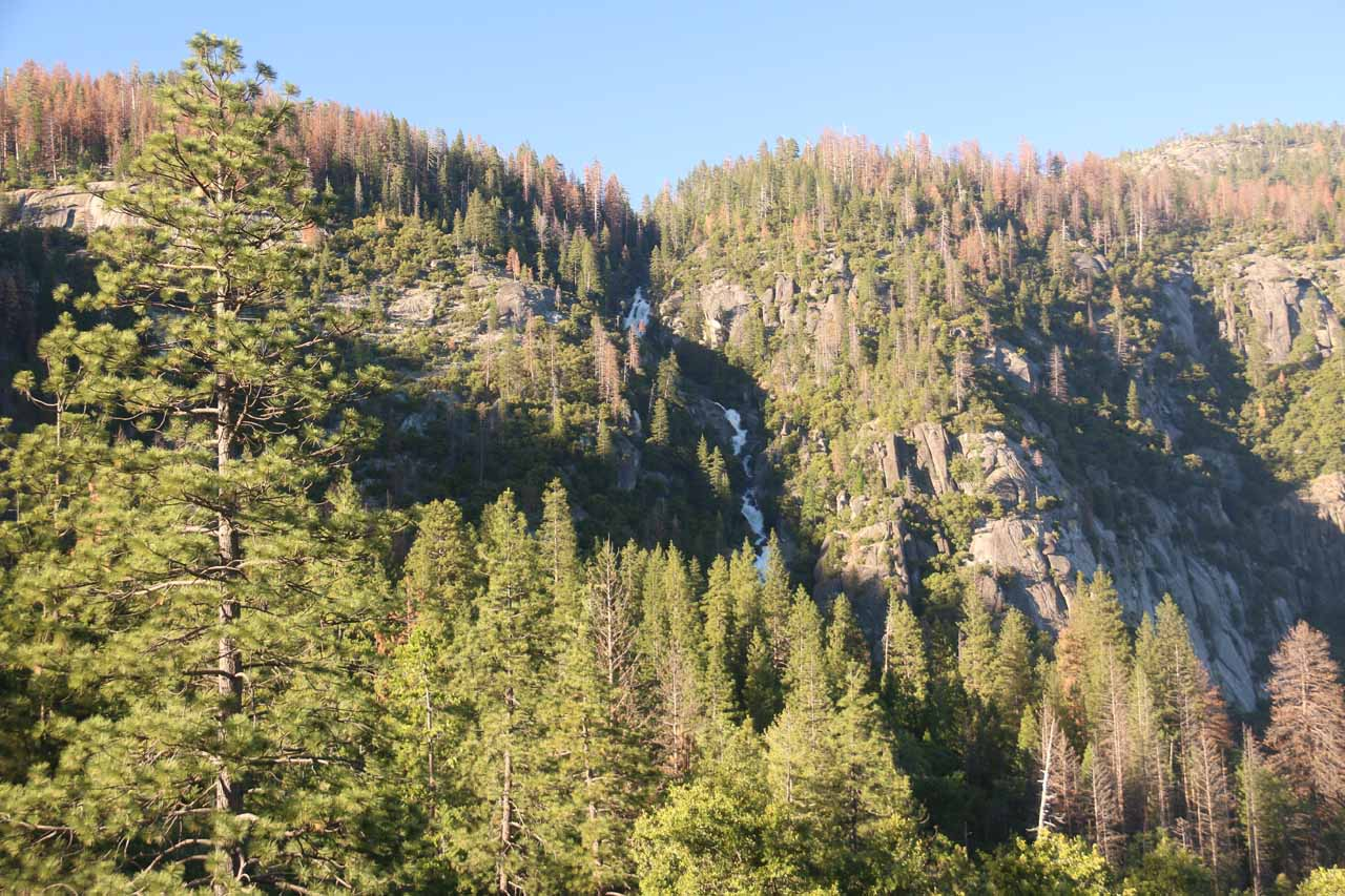 If you come too late in the afternoon, both Tamarack Creek and the Upper Cascades start hiding in the shadows