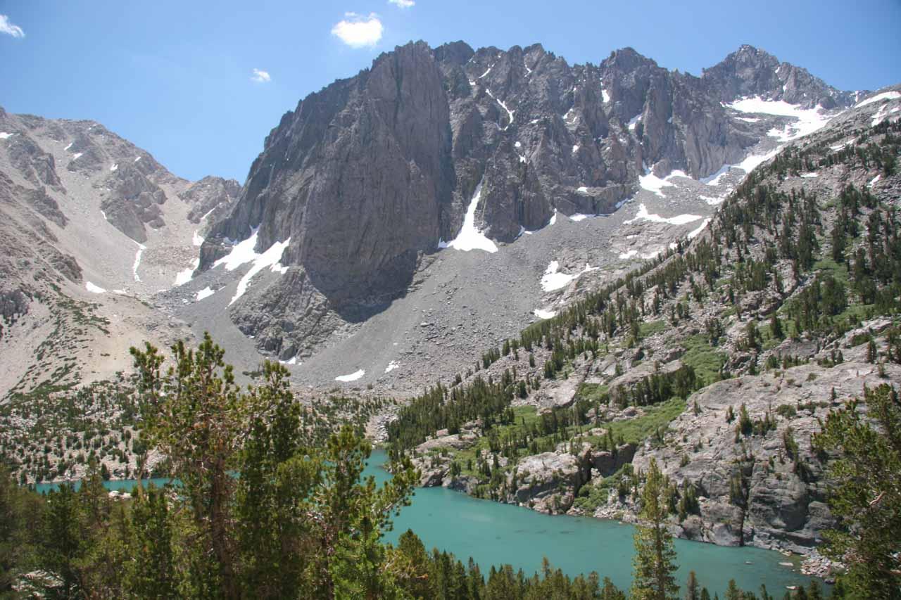 Looking back at Third Lake