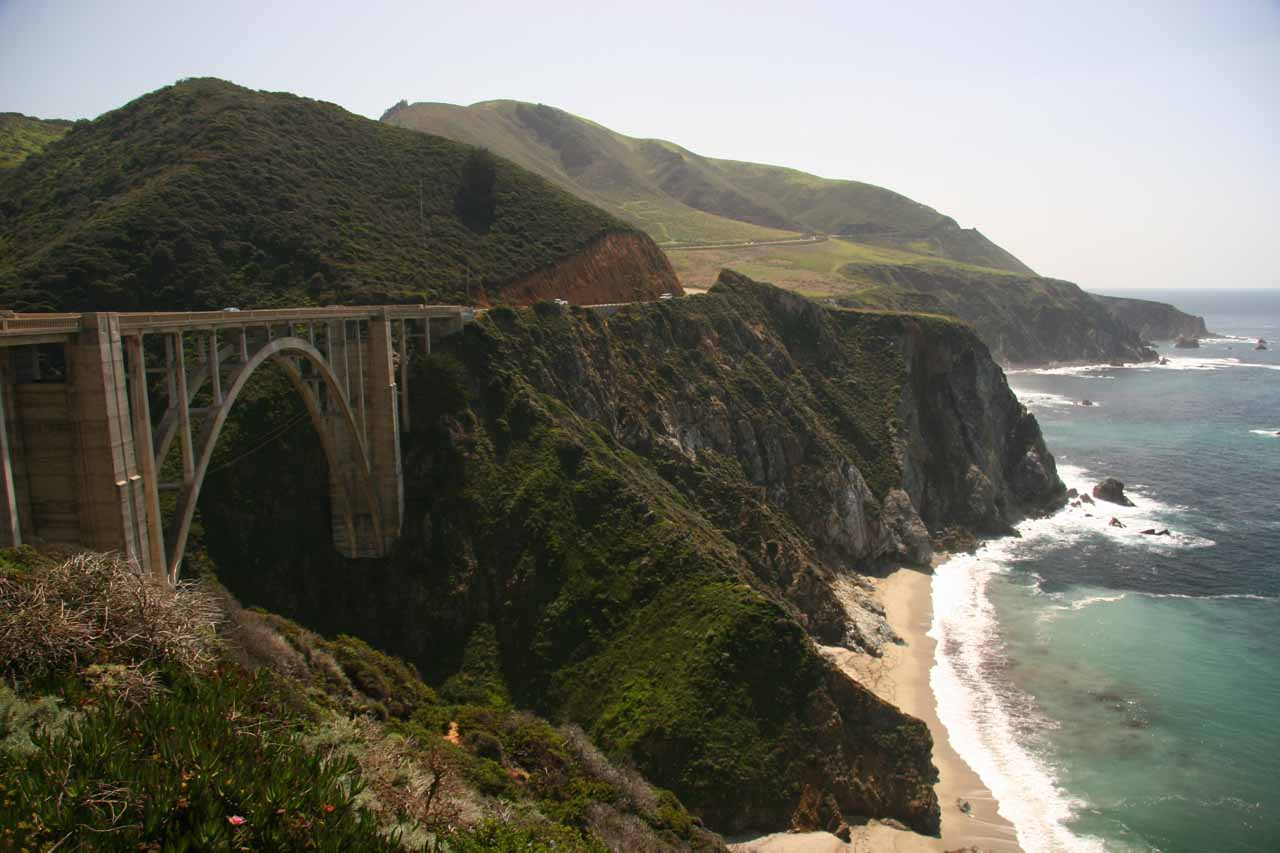 Bixby Bridge and the rocky coast