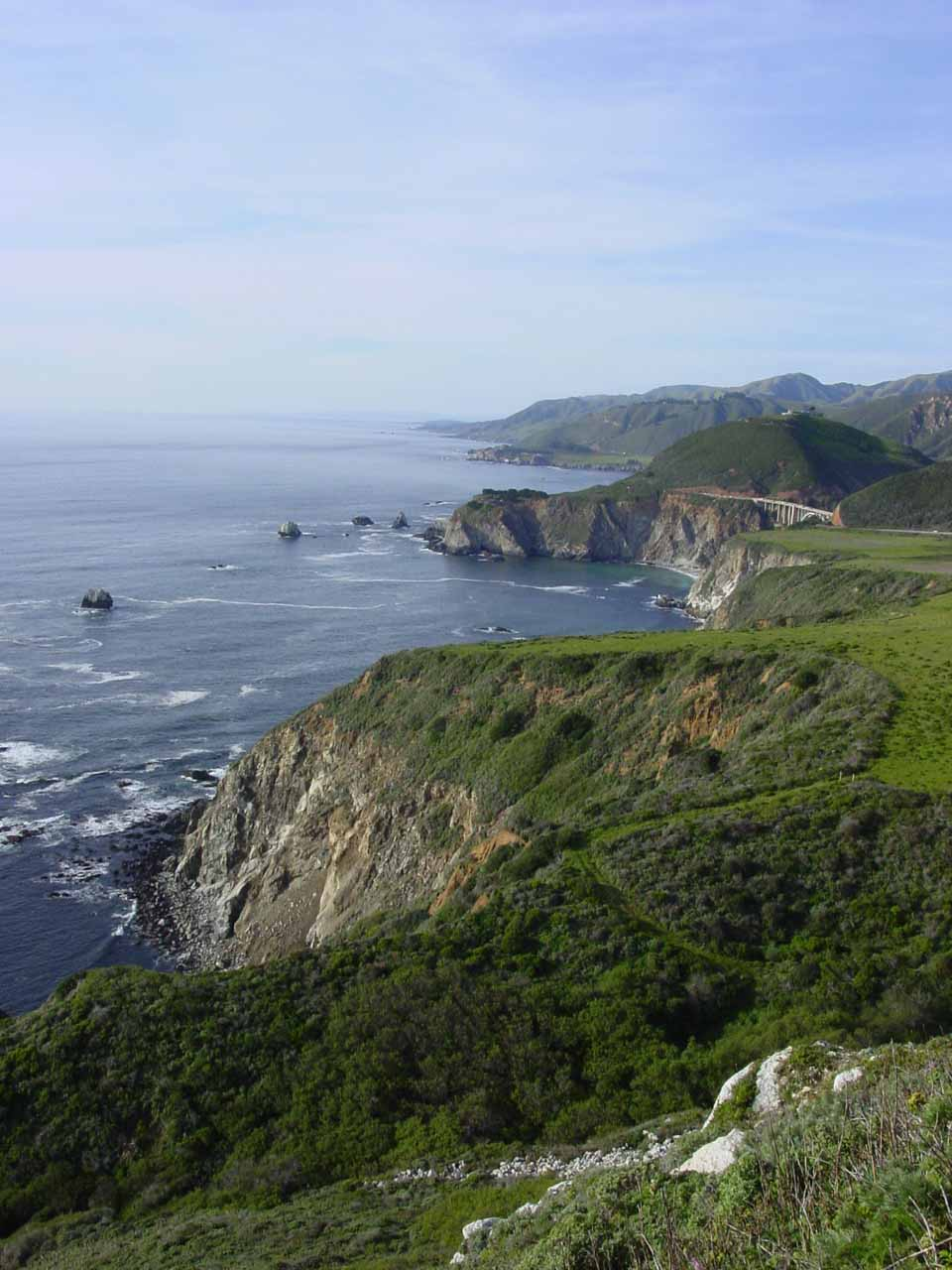 Looking in the other direction towards Bixby Bridge
