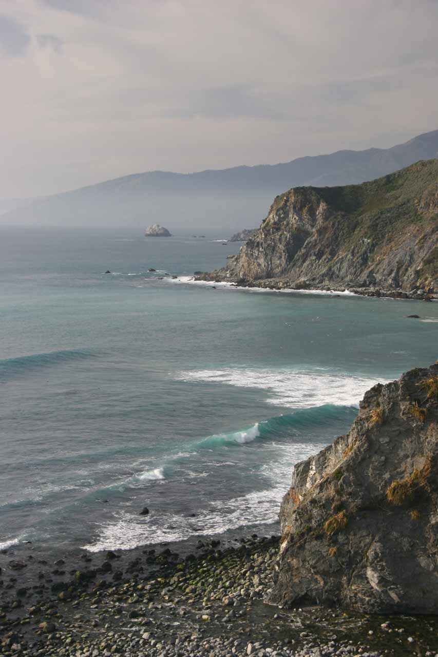 Also further along the Big Sur Coast, we were able to get more moody coastal views with the fog rolling in as shown here