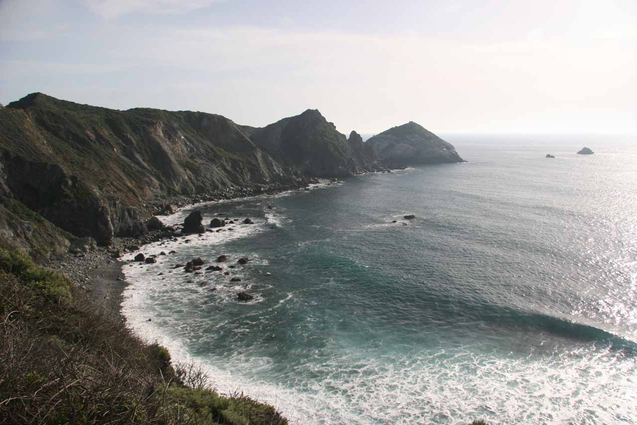 During the curvy drive up Hwy 1 to Salmon Creek Falls, there were plenty of spots to pull over and admire the rugged coastline of Big Sur