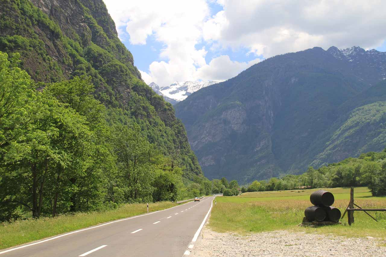 This view of Valle Maggia was near the town of Bignasco, which also had an attractive waterfall