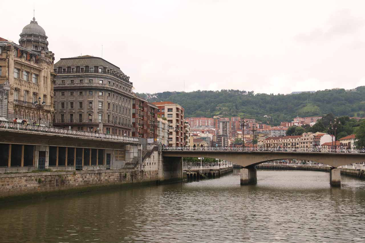 Looking across the Ria de Bilbao as we were waiting for the Euskotran to show up
